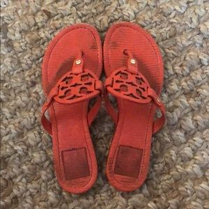 tory burch | orange miller sandal